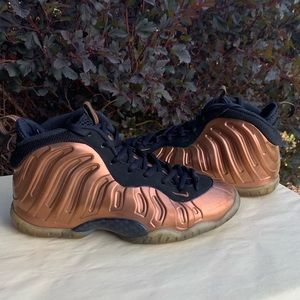 "Nike Foamposite ""Copper"" Basketball Shoes SZ 6.5Y"